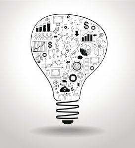 Inbound Marketing Lightbulb Graphic
