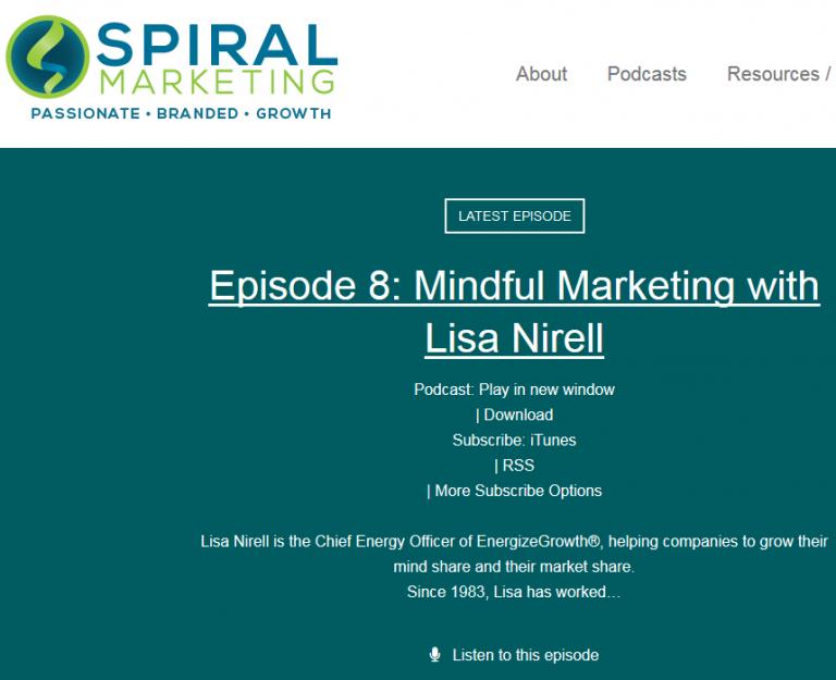 Spiral Marketing Podcast Screenshot