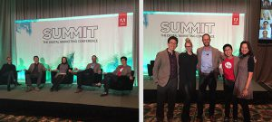 Lisa Nirell and Millennial Marketing panel members at the Adobe Summit 2015