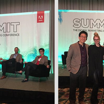 Lisa Nirell and Millennial Marketing panel members at the Adobe Summit 2015