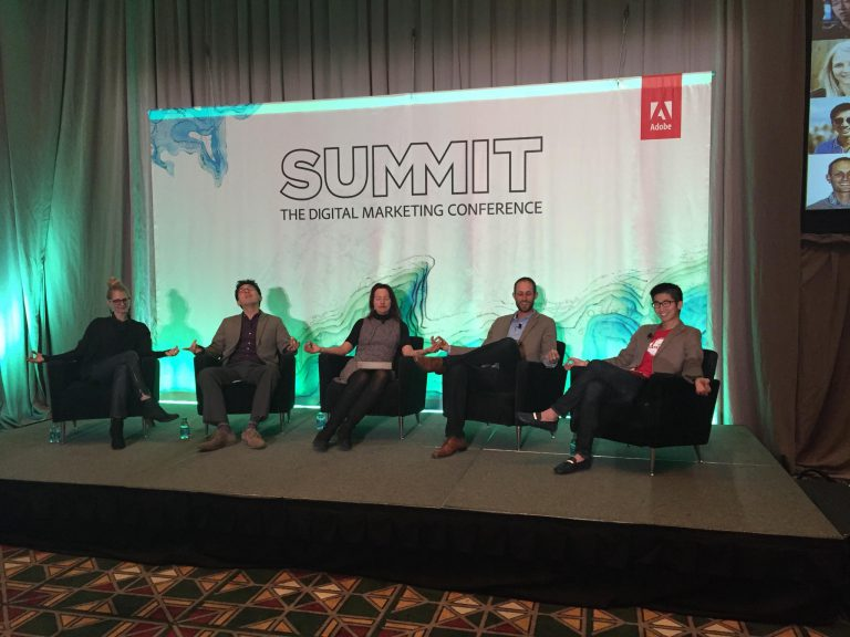 Lisa Nirell moderates the Millennial Marketing Panel at Adobe Summit 2015