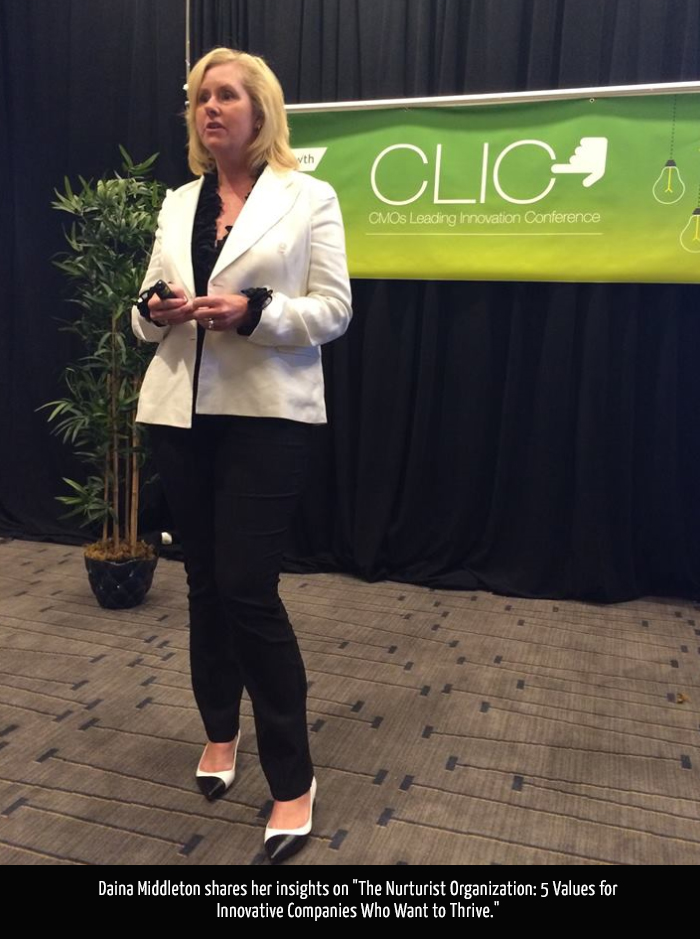 Daina Middleton, Head of Global Marketing for Twitter, Presents at CLIC '15