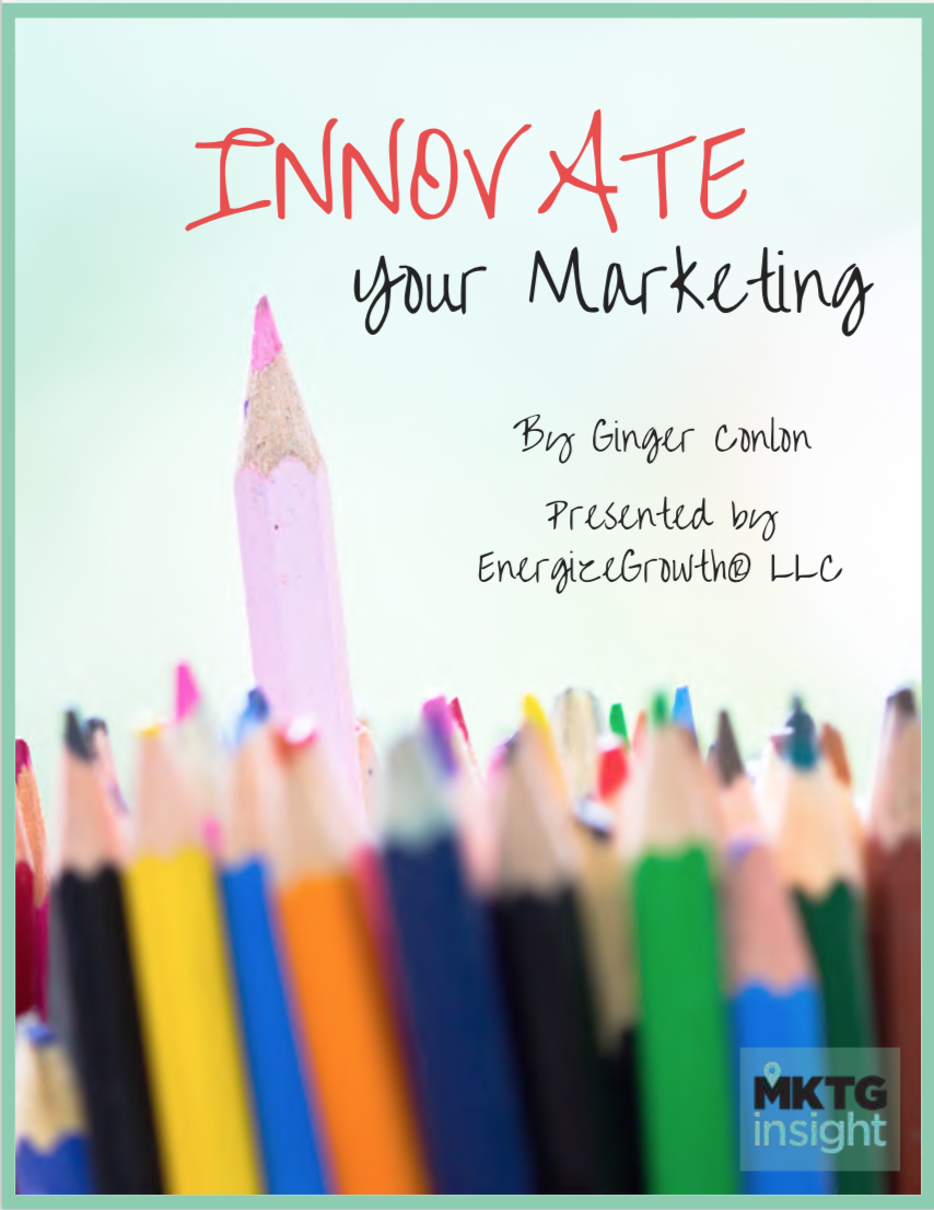 Innovate Your Marketing cover Ginger Conlon