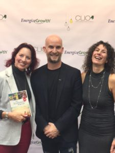 Lisa Nirell, Leon Logothetis, and Ginger Conlon at CLIC '17