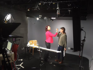 hair and makeup Lisa Nirell LinkedIn filming